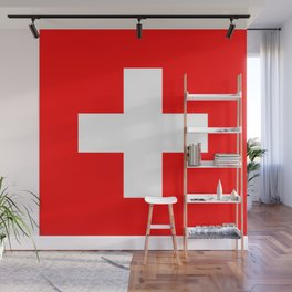 Flag of Switzerland Wall Mural