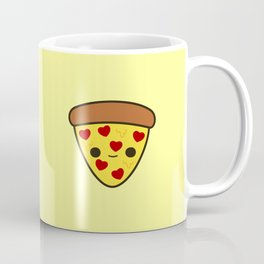 Cute pizza with heart toppings Coffee Mug