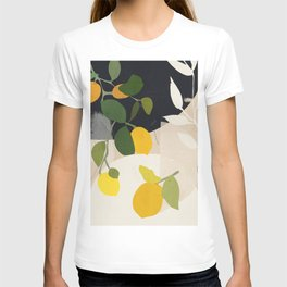 Lemon Abstract Art T-shirt