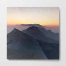Mountain Sunset Wanderlust Metal Print