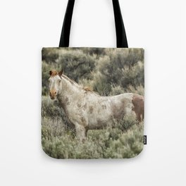 South Steens Stallion Alone on the Range Tote Bag