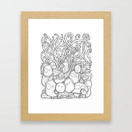 Many Monsters Framed Art Print