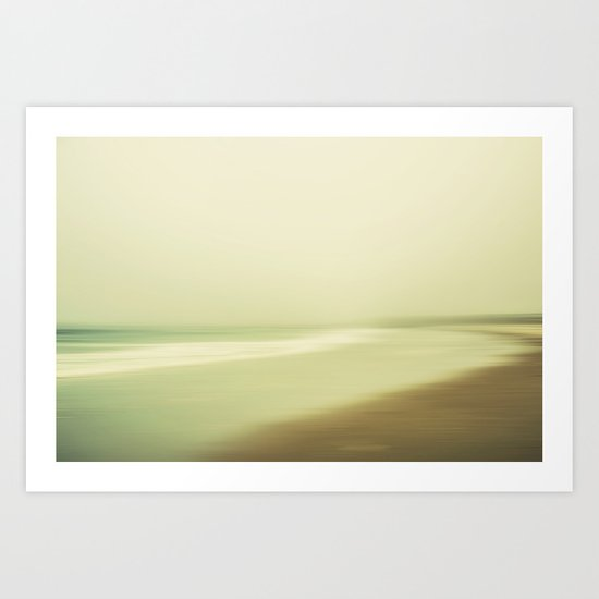 Californian Beach Art Print