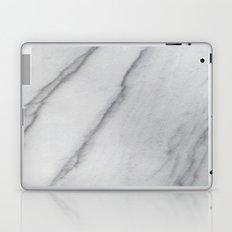 Sophisticated Polished White Marble Laptop & iPad Skin