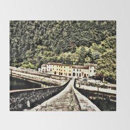 Ponte della Maddalena-Tuscany, Italy Throw Blanket