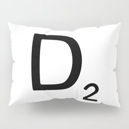 Letter D - Custom Scrabble Letter Wall Art - Scrabble D Pillow Sham