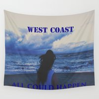 west coast Wall Tapestries featuring In The West Coast by Dr.RPF