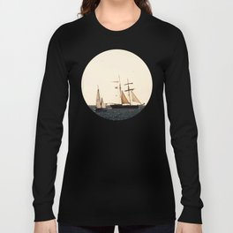 Sailboats in a windy day Long Sleeve T-shirt
