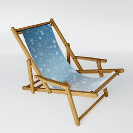 Snow Bokeh Blue Pattern Winter Snowing Abstract Sling Chair