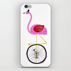 flamingo unicycler iPhone & iPod Skin