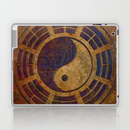 Purple Yin Yang Sign on Granite Laptop & iPad Skin