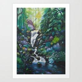 Waterfall by MRT Art Print