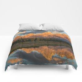 Sunrise On The Snake River Comforters