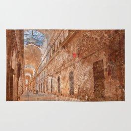 Battered Prison Corridor Rug