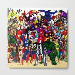 super hero all anime Metal Print