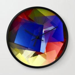 Geometric harmony. For Paul klee Wall Clock