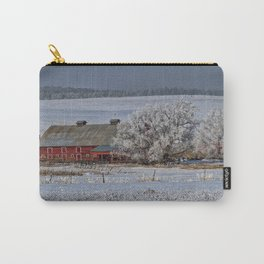 Red Barn in Winter Carry-All Pouch