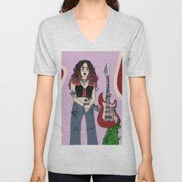 Guitar Girl Unisex V-Neck
