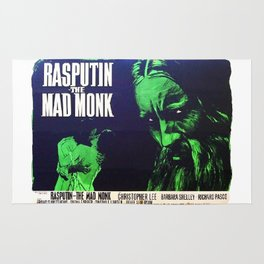 Rasputin, The Mad Monk, vintage horror movie poster Rug