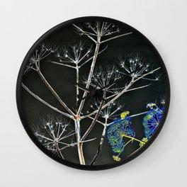 YELLOW WILD-FLOWERS of Sicily Wall Clock