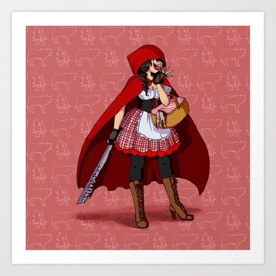 Serial Killer Red Riding Hood Art Print