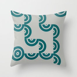 Hedgehog abstract geometric pattern with colorful shapes 201 Throw Pillow