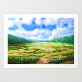 The Fields Are Teeming With Mellow Art Print