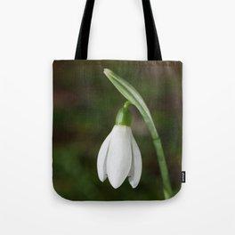 Single Snowdrop Tote Bag