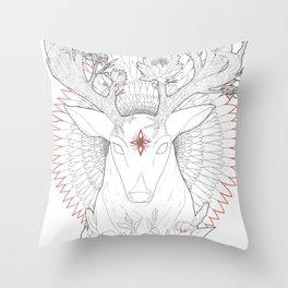 Deer, Oh Deer! Throw Pillow