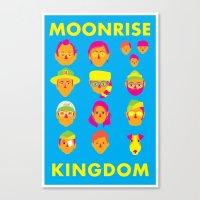 moonrise kingdom Canvas Prints featuring Moonrise Kingdom by Brittany Metz