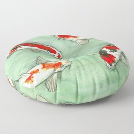 La ronde des carpes koi Floor Pillow