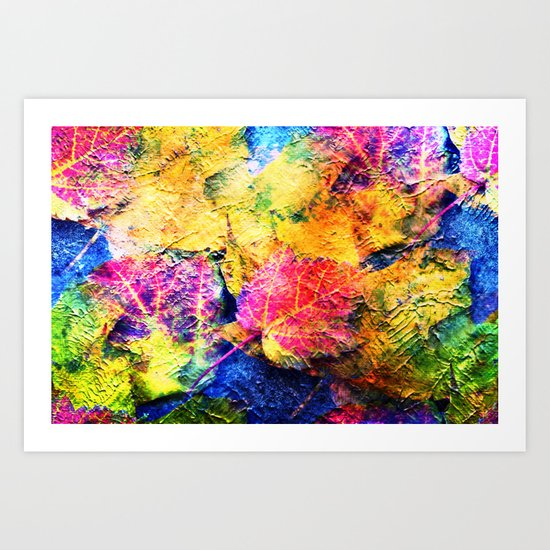 Fall Leave Abstract Art Print