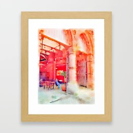 Lunch Break (Soaked Collection) Framed Art Print