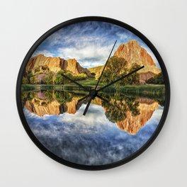 Colorful Colorado by Lena Owens/OLena Art Wall Clock