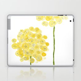 two abstract dandelions watercolor Laptop & iPad Skin