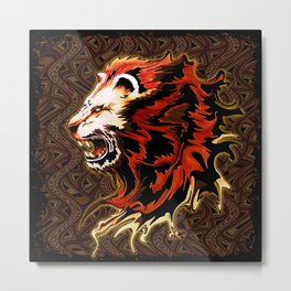 King Lion Roar Metal Print