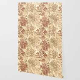 Warm Seaweed Pattern Wallpaper