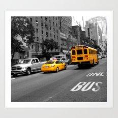 Yellow things in New York Art Print
