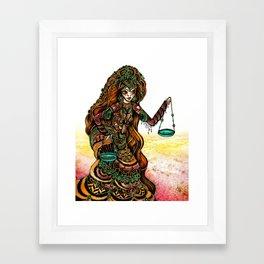 Astrology Illustration Series-Libra Framed Art Print