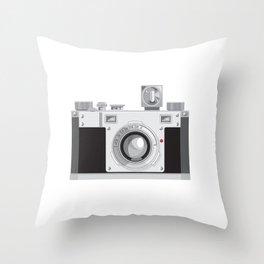 Vintage 35mm Film Camera Retro Style Throw Pillow