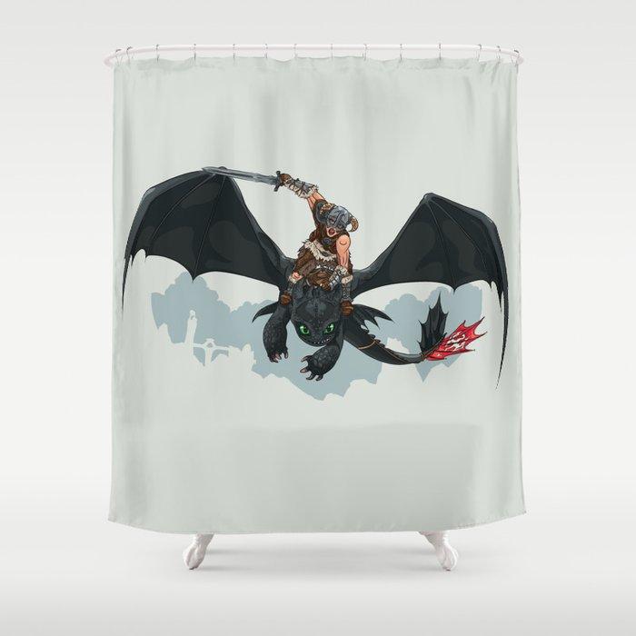 Riders Of Skyrim Shower Curtain
