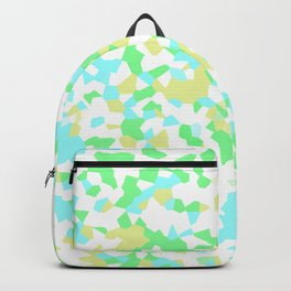 Blue, Yellow, and Green Mosaic Backpack
