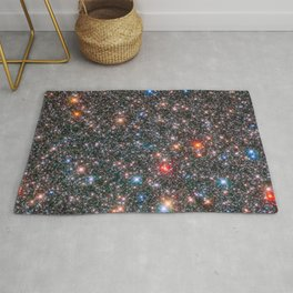 Glittering Milky Way Galaxy Bulge Telescopic Long Range Photograph Rug
