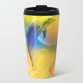 Colorful Dolphin Travel Mug