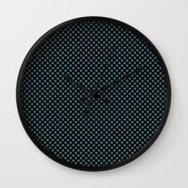 Black and Hydro Polka Dots Wall Clock