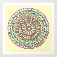 Aztec Trek Art Print