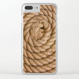 Flemish Flake Clear iPhone Case