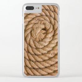 Flemish Flake Clear iPhone Case