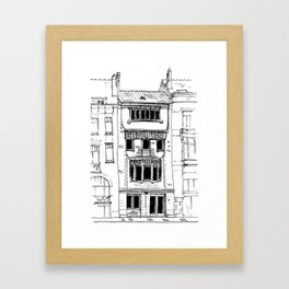 Brussels Art Nouveau Framed Art Print
