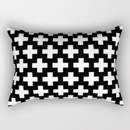 Swiss Cross W&B Rectangular Pillow
